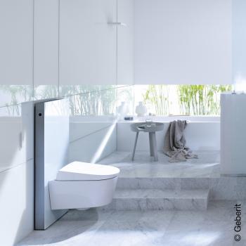 Geberit Monolith Sanitärmodul für Wand-WC, H: 101 cm Glas weiß