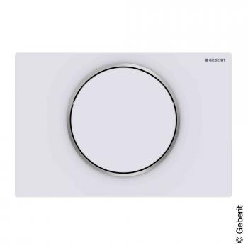 Geberit Sigma10 Betätigungsplatte für 1-Mengen-Spülung weiß matt/edelstahl poliert