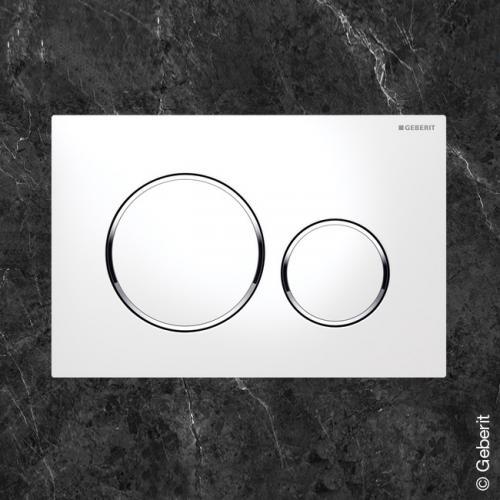 Geberit Sigma20 Betätigungsplatte für 2-Mengen-Spülung weiß/chrom