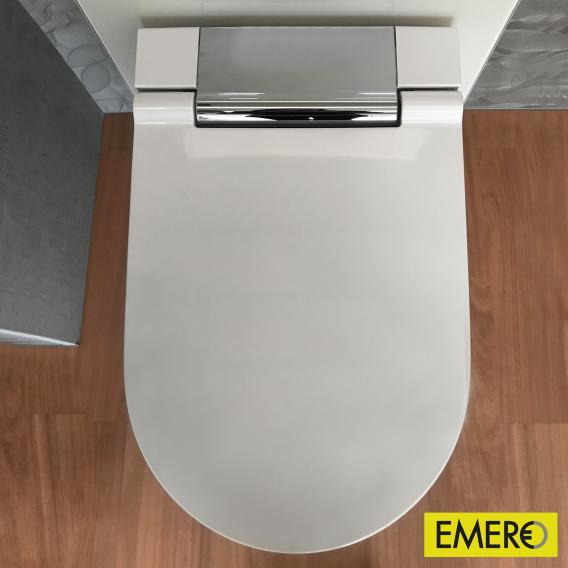 Geberit AquaClean Sela Wand-Dusch-WC Komplettanlage, mit WC-Sitz weiß/chrom hochglanz