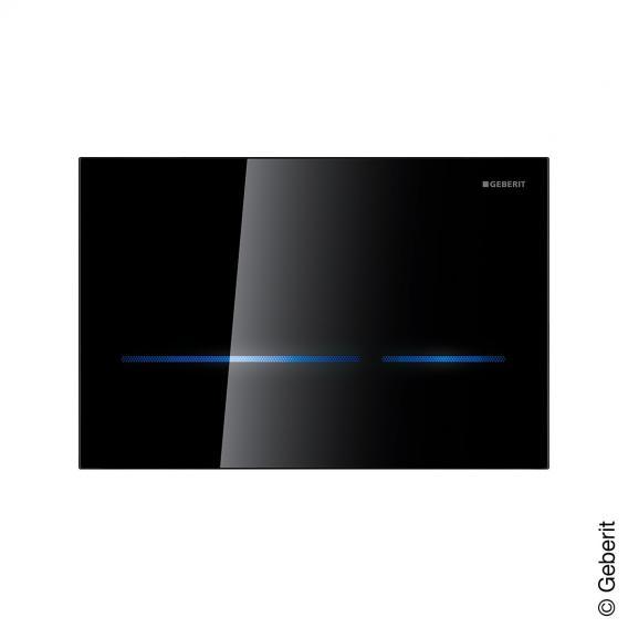 Geberit HyTronic Sigma80 berührungslose Betätigungsplatte für 2-Mengen-Spülung Glas schwarz