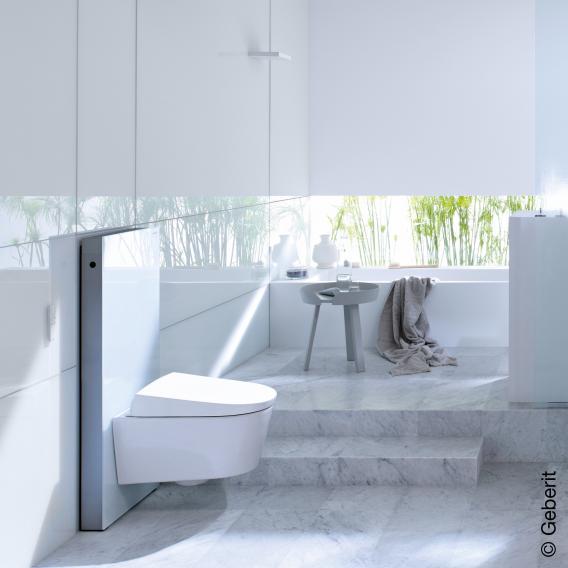 Geberit Monolith Sanitärmodul für Wand-WC H: 101 cm, Glas weiß