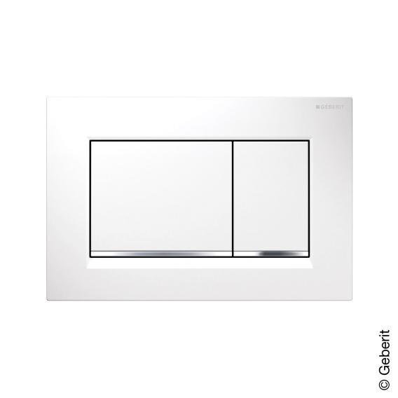 Geberit Sigma30 Betätigungsplatte für 2-Mengen-Spülung weiß/chrom