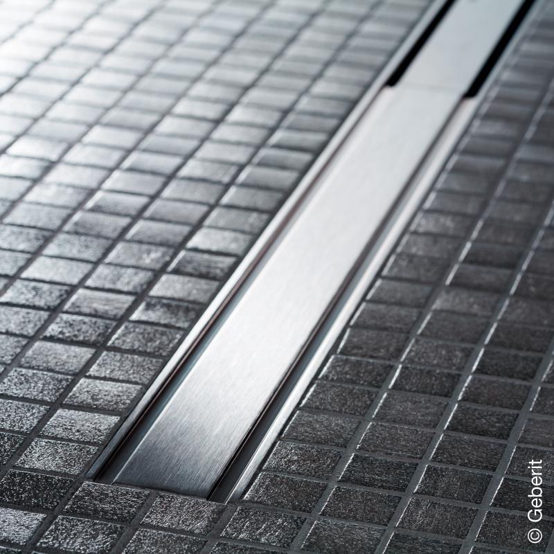 Duschrinne CleanLine60 Edelstahl poliert gebürstet Geberit Rohbauset