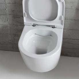 Globo FORTY3 SENZABRIDA® Wand-Tiefspül-WC, spülrandlos, Ausführung kurz weiß