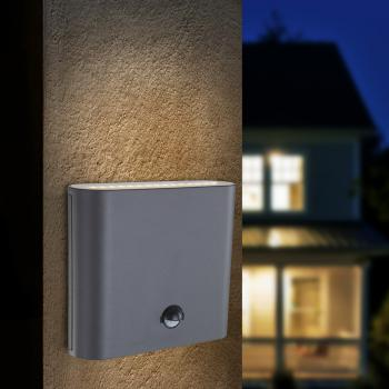 Globo Lighting Agam LED Wandleuchte mit Bewegungsmelder