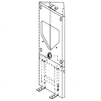 Grumbach Eck-Urinal-Visit-Stein, H: 122 cm