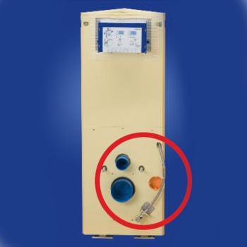 Grumbach Eck-WC-Stein, H: 108 cm, für Duravit SensoWash®