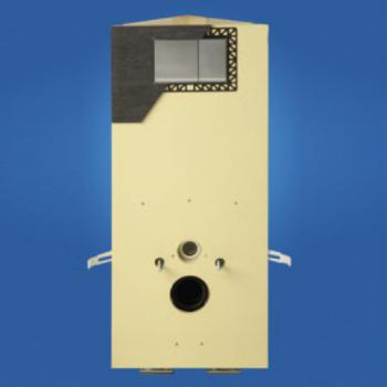 Grumbach Eck-WC-Stein, H: 98 cm, mit Vorsatzplatte aus PUR
