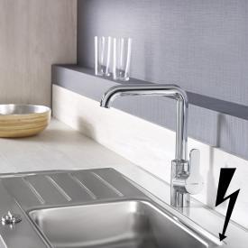 Hansa Primo Spültisch-Einhand-Einlochbatterie für offene Heißwasserbereiter