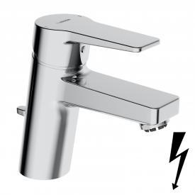 Hansa Twist Waschtisch-Einhand-Einlochbatterie mit Ablaufgarnitur, für offene Heißwassbereiter