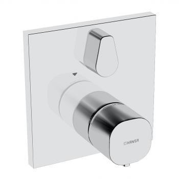 Hansa Living UP-Thermostat-Batterie, mit Umstellung, eckig, für Bluebox