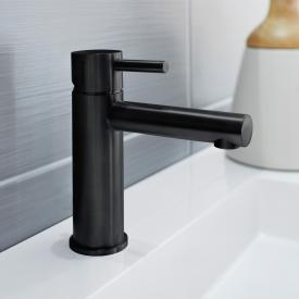 Herzbach Design iX PVD Waschtisch-Einlochbatterie black steel, ohne Ablaufgarnitur