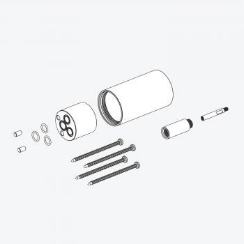 Herzbach Logic Plus Unterputzverlängerung für Unterputz-Einhandmischer, Länge: 30 mm copper steel