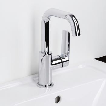 Herzbach Ventura Waschtisch-Einlochbatterie für offene Warmwasserbereiter ohne Ablaufgarnitur
