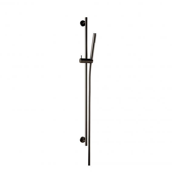 Herzbach Design iX PVD  Dusch-Wandstangenset, rund black steel