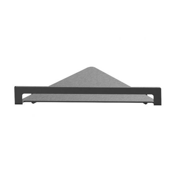 Herzbach Design iX PVD Duschutensilien-Eckablage black steel