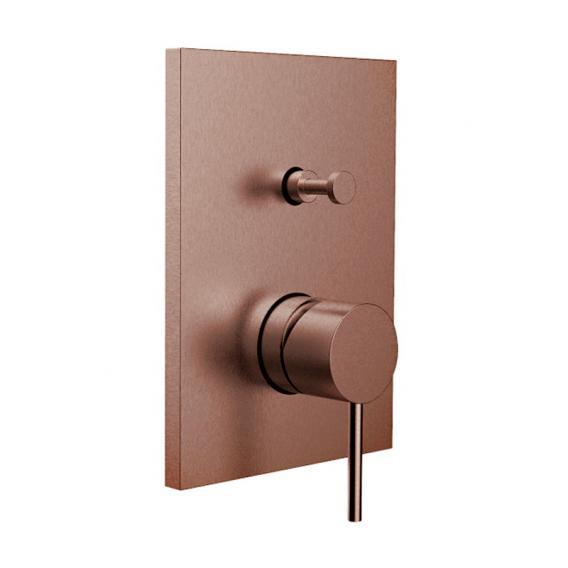 Herzbach Design iX PVD Wannenfüll- und Brausebatterie Unterputz, eckig copper steel