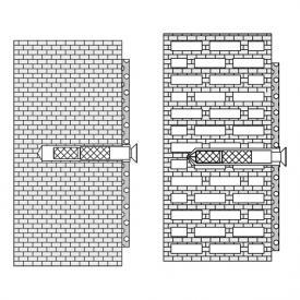 Hewi Befestigungsmaterial für Hohlblocksteine, Hochlochziegeln, Vollziegeln