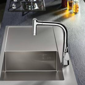 Hansgrohe Metris Einhebel-Küchenmischer 220 mit Ausziehbrause und sBox chrom