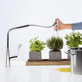 Hansgrohe Metris Select Einhebel-Küchenmischer 240, mit Ausziehauslauf und sBox chrom