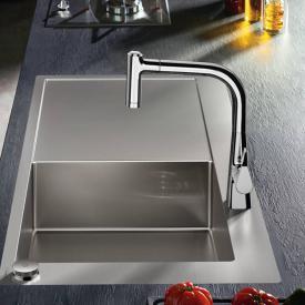Hansgrohe Metris Select M71 2-Loch Einhebel-Küchenmischer 220 mit Ausziehbrause und sBox chrom