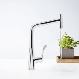 Hansgrohe Metris Select M71 Einhebel-Küchenmischer 320 mit Ausziehauslauf und sBox chrom