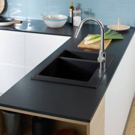 Hansgrohe S51 Einbauspüle 180/450 graphit schwarz