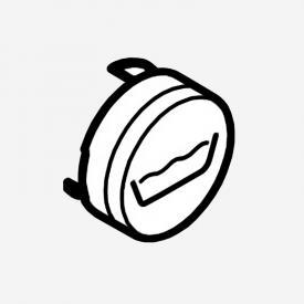 Hansgrohe ShowerSelect Druckknopf Symbol edelmatt