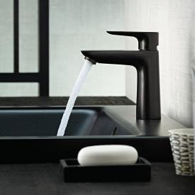 Hansgrohe Talis E Einhebel-Waschtischmischer 110 CoolStart schwarz matt, mit Ablaufgarnitur