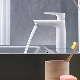 Hansgrohe Talis E Einhebel-Waschtischmischer 110 CoolStart weiß matt, ohne Ablaufgarnitur