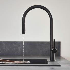 Hansgrohe Talis M54 Einhebel-Küchenmischer mit Ausziehbrause mit sBox schwarz matt