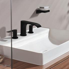 Hansgrohe Vivenis 3-Loch Waschtischarmatur 90 mit Ablaufgarnitur schwarz matt