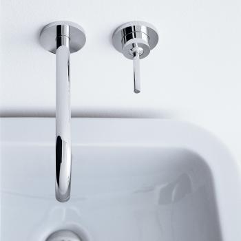 AXOR Uno Einhebel-Waschtischmischer mit Rosetten für Wandmontage Ausladung: 225 mm, chrom