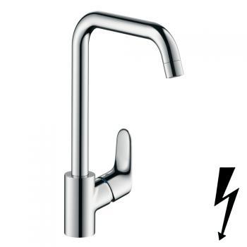 Hansgrohe Focus Einhebel-Küchenarmatur für offene Heißwasserbereiter chrom