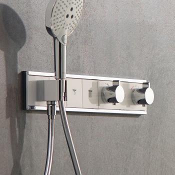 Hansgrohe RainSelect Fertigset für 3 Verbraucher, Unterputz weiß/chrom
