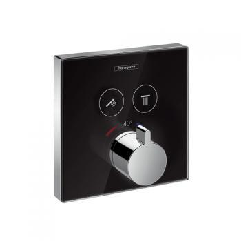 Hansgrohe ShowerSelect Thermostat Unterputz für 2 Verbraucher schwarz/chrom