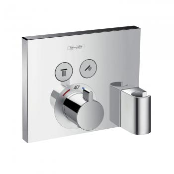 Hansgrohe ShowerSelect Thermostat Unterputz für 2 Verbraucher mit Fixfit und Portereinheit