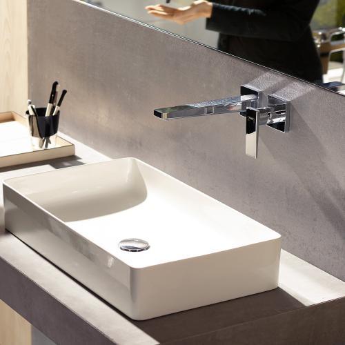 Hansgrohe Metropol Einhebel-Waschtischmischer für Wandmontage, mit Zungengriff chrom, Ausladung: 225 mm