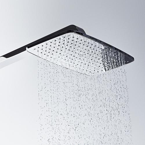 Hansgrohe Raindance Select E 360 1jet Showerpipe weiß/chrom