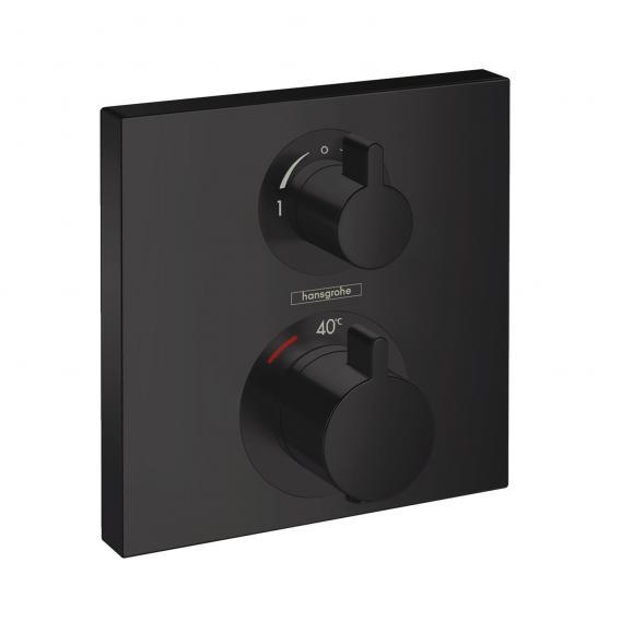 Hansgrohe Ecostat Square Thermostat Unterputz, für 2 Verbraucher schwarz matt