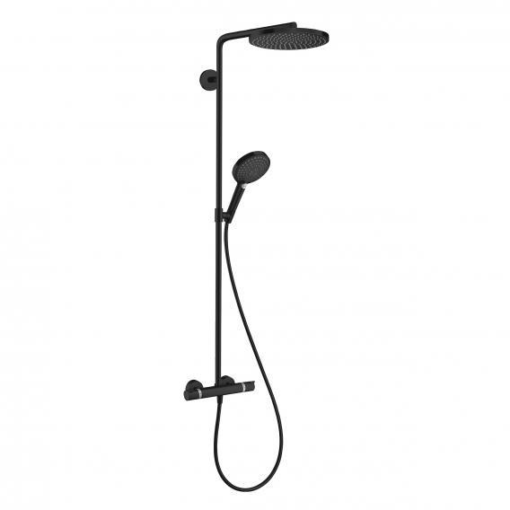 Hansgrohe Raindance Select S Showerpipe 240 1jet PowderRain mit Thermostat schwarz matt
