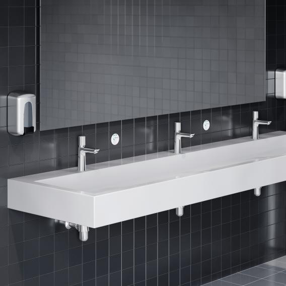 Hansgrohe Talis E Selbstschluss-Waschtischarmatur, mit Temperaturregulierung