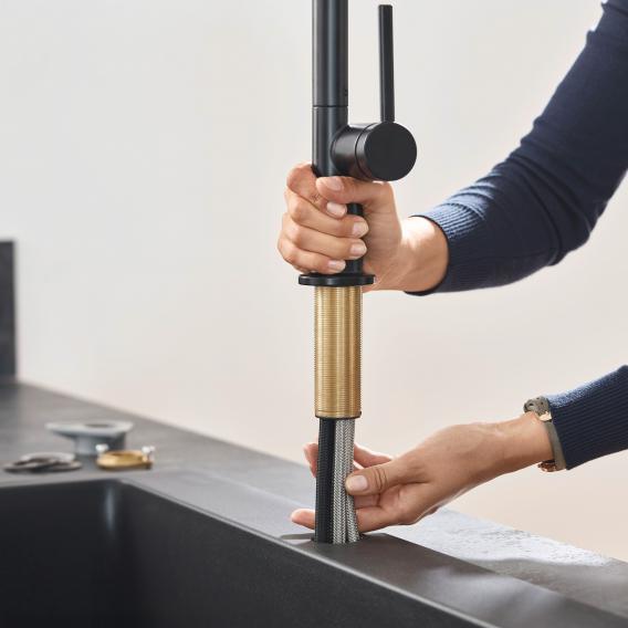 Hansgrohe Talis M54 Einhebel-Küchenmischer mit Ausziehbrause schwarz matt