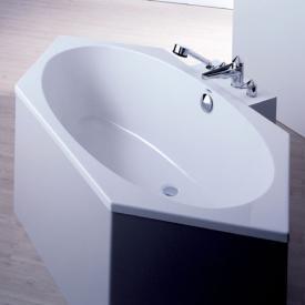 Hoesch ARMADA Sechseck-Badewanne, Einbau weiß