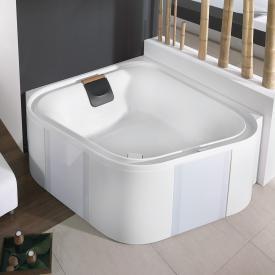 Hoesch ERGO Eck-Badewanne mit Verkleidung weiß, Verkleidung: Acryl weiß/Glas weiß