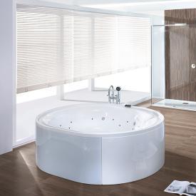 Hoesch ERGO Freistehende Oval-Whirlwanne Verkleidung: Acryl weiß/Glas weiß