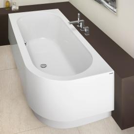 Hoesch HAPPY D Eck Badewanne mit Schürze weiß