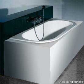 Hoesch HAPPY D Halbrunde Vorwand-Badewanne, Einbau weiß