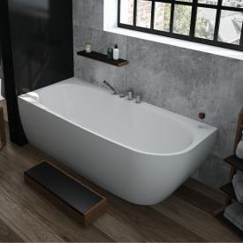 Hoesch iSENSI Eck-Badewanne mit Verkleidung ohne Wanneneinlauf